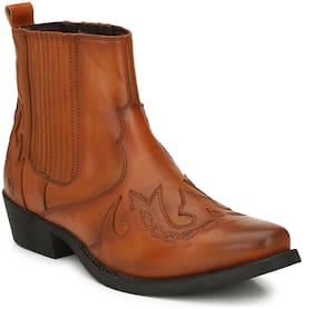 Delize Men Tan Chelsea Boots - 50705