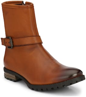 Delize Men Tan Chelsea Boots