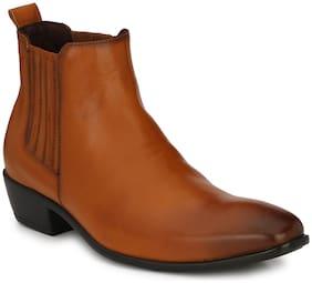 Delize Men Tan Ankle Boots - 56092