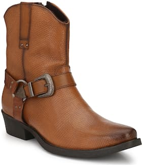 Delize Men's Tan Chelsea Boots