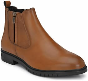 Delize Tan Synthetic Leather Chelsea Boot for (Men)