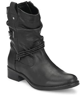 Delize Women Black Calf length Boots