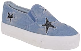 DENIM CASUAL SHOES BY BERRY PURPLE