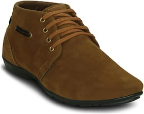 Get Glamr Men's Tan Ankle Boots