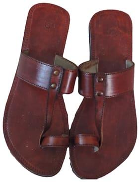 DESI COLOUR Women Brown Sliders