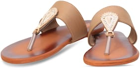 DIGNI BEIGE FLATS SANDAL FOR GIRLS AND LADIES DWF-1001