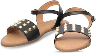 DIGNI BLACK FLAT SANDAL FOR GIRLS AND LADIES DWF-D-102
