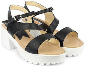 DIGNI Black Mesh Women Heels