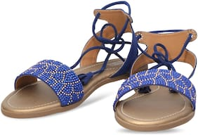 DIGNI BLUE FLAT SANDAL FOR GIRLS AND LADIES DWF-D-105