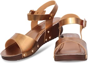 DIGNI COPPER FLAT SANDAL FOR GIRLS AND LADIES DWF-D-102