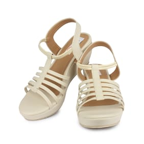 DIGNI Cream Mesh Women Wedges