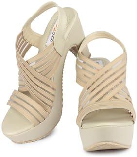 DIGNI Cream Mesh Women Heels