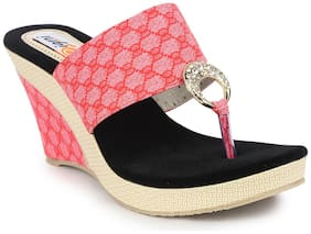 DIGNI Pink Mesh Wedges