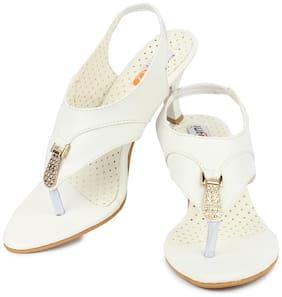 DIGNI White Mesh Women Heels