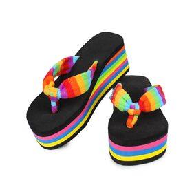 Do Bhai Women Black Slippers
