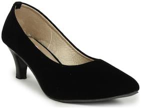 Do Bhai Women Grey Heeled Sandals