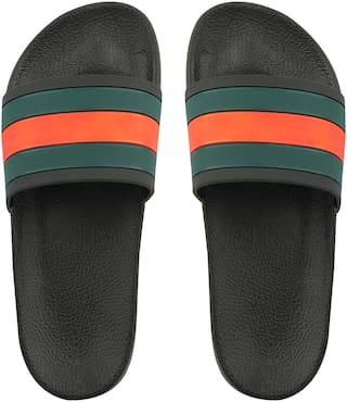 Do Bhai Men Black Flip-Flops - 1 Pair