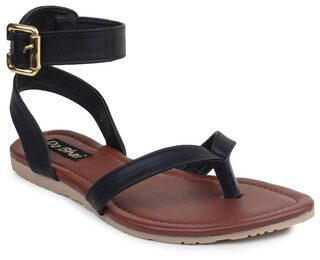 Do Bhai Women Green Sandals