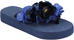 Do Bhai Blue Flip-flops For women