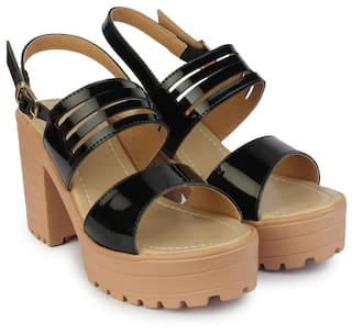 6496eb3b7e3 Buy Do Bhai Black Heels Online at Low Prices in India - Paytmmall.com