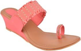 Do Bhai Women Pink Wedges