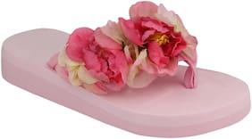 Do Bhai Pink Flip-flops For women