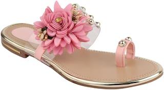 Do Bhai Women Pink Sandals