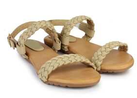 Do Bhai Sandal-Sweety-Cream Sandals for Women
