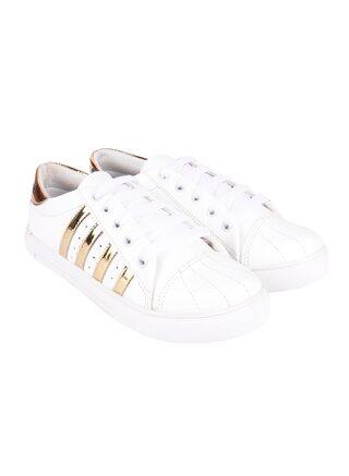 Do Bhai Women Gold Sneakers