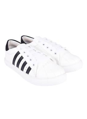 Do Bhai Women White Sneakers