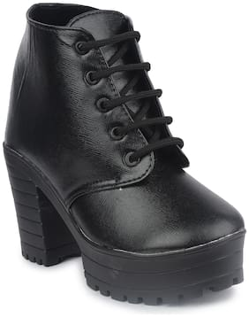 Do Bhai Women Black Boot