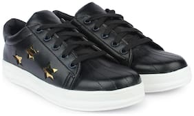 Do Bhai Black Sneakers & Sports Shoes