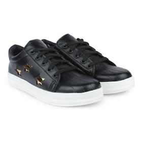 Do Bhai Women Black Sneakers