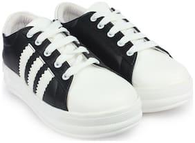 Do Bhai Women Black Casual Shoes