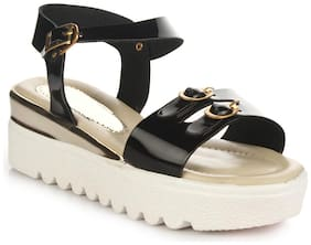 Do Bhai Black Wedges