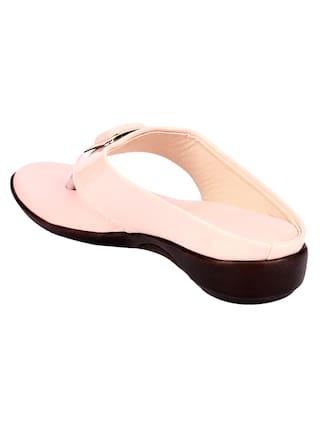 Do Bhai Women Pink One Toe Flats
