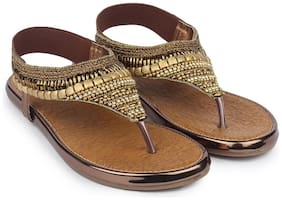 Do Bhai Women Copper Sandals