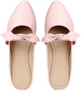 Do Bhai Women Pink Mules