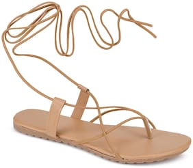 Do Bhai Women Tan Sandals