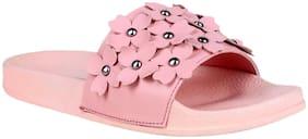 Do Bhai Women Pink Flipflops