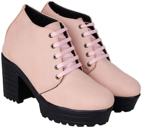 Do Bhai Women Pink Casual Boots