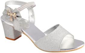 Do Bhai Women Silver Heeled Sandals