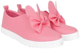 Do Bhai Women Pink Slip-On Shoes
