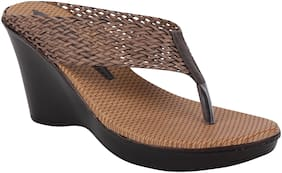 Do Bhai Women Brown Wedges
