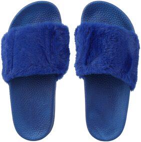 Do Bhai Women Blue Flipflops