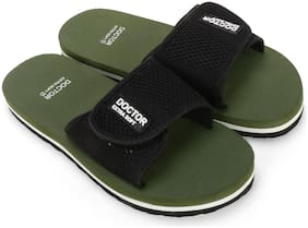 DOCTOR EXTRA SOFT Men Green Diabetic & Orthopaedic Slippers - 1 Pair