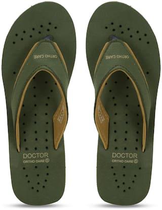 DOCTOR EXTRA SOFT Women Olive Flip Flops