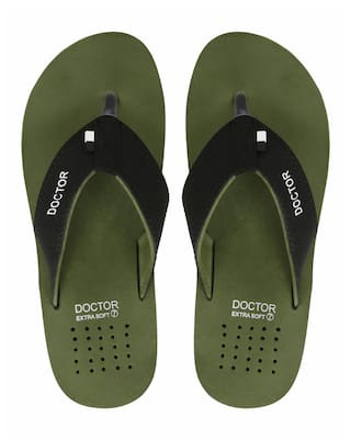 DOCTOR EXTRA SOFT Green Men Slippers