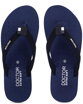 DOCTOR EXTRA SOFT Women Navy Blue Slippers