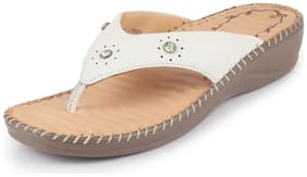 Dr.Scholls Women White Slippers